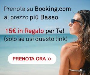Prenota su Booking.com e ricevi 15€ in Regalo